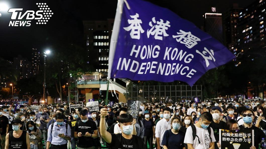 香港「反送中」運動。(圖/達志影像路透社) 多名香港民主抗爭者已抵美 人權組織協助庇護