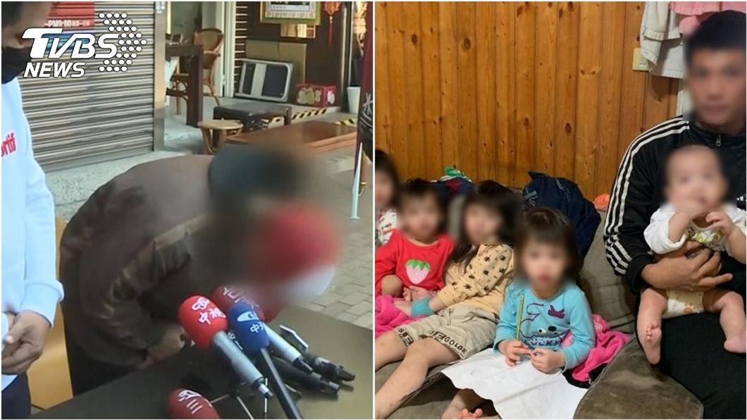 5寶爸爭議不斷。(圖/TVBS資料畫面、台中行善團張茗富提供) 遭爆搬新冰箱留滿屋臭垃圾 5寶爸反咬房東:恐嚇我