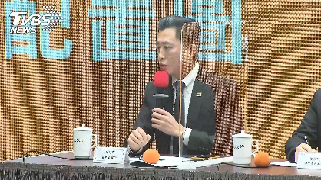 林智堅宣布台灣燈會停辦。(圖/TVBS) 台灣燈會停辦 林智堅:光雕作品待適當時機展出
