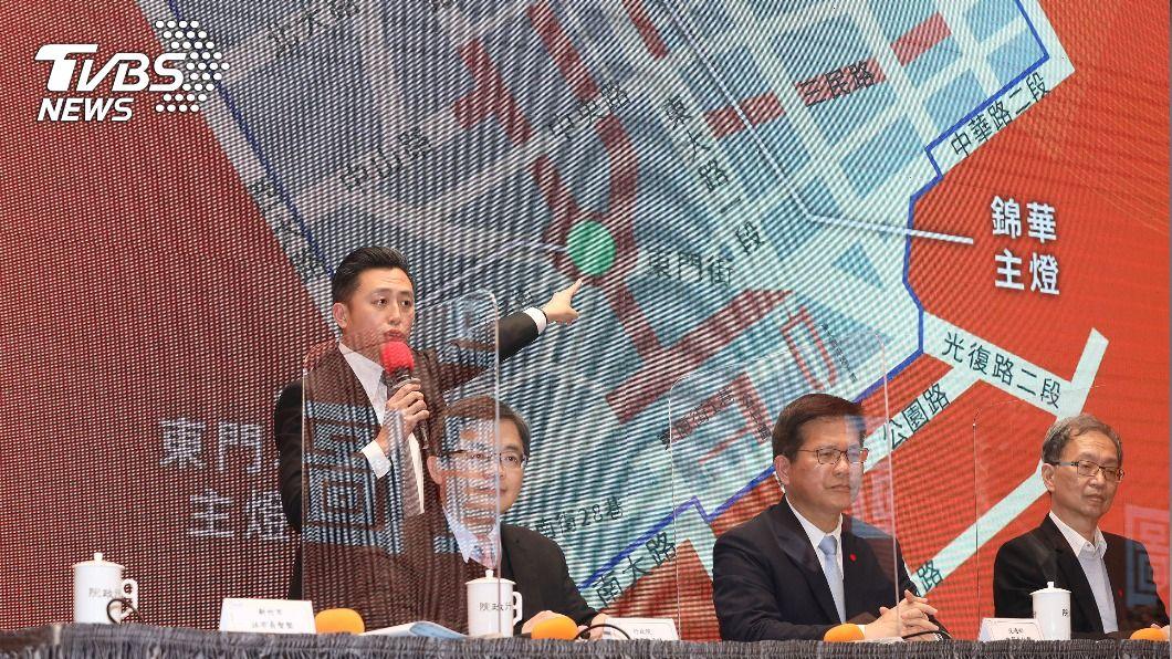 政院召開記者會宣布停辦2021台灣燈會。(圖/中央社) 2021台灣燈會停辦 林佳龍:約損失2億元
