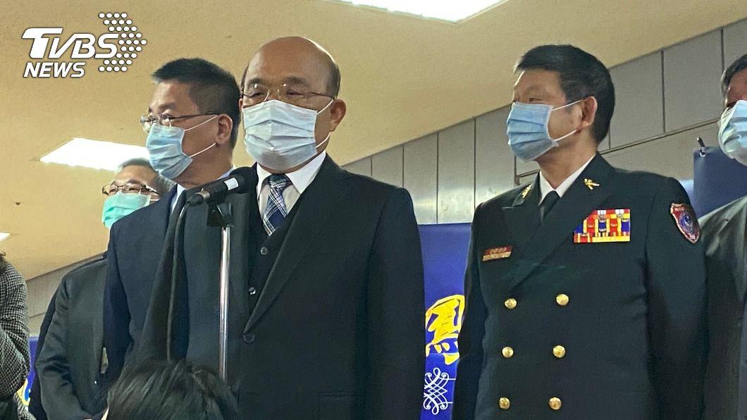 行政院長蘇貞昌。(圖/中央社) 司法界不當接觸案 蘇貞昌:證據到哪就辦到哪