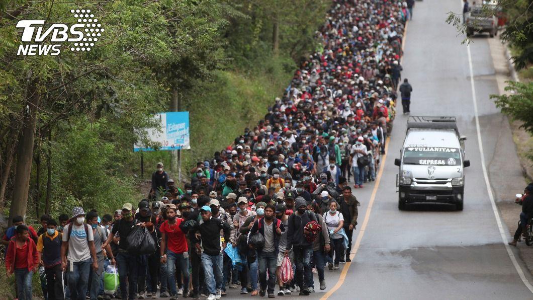 宏都拉斯移民大軍。(圖/達志影像美聯社) 準國土安全部長挺拜登移民政策 擬停建美墨高牆