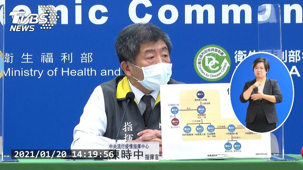 指揮中心指揮官陳時中。(圖/TVBS) 楊志良搭捷運未戴口罩挨批 陳時中:沒必要獵巫
