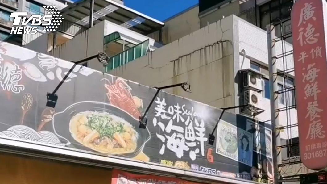確診者曾赴廣德海鮮餐廳桃園大興店用餐。(圖/TVBS) 確診護理師家人曾去過 廣德海鮮餐廳錯愕:看記者會才知