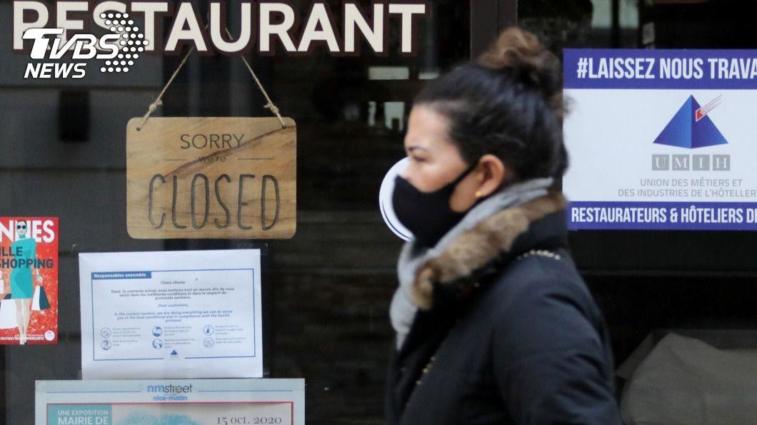 法國封城餐廳僅能外送、外帶。(圖/達志影像路透社) 法國「地下餐廳」偷接客內用 違法營業引警方注意