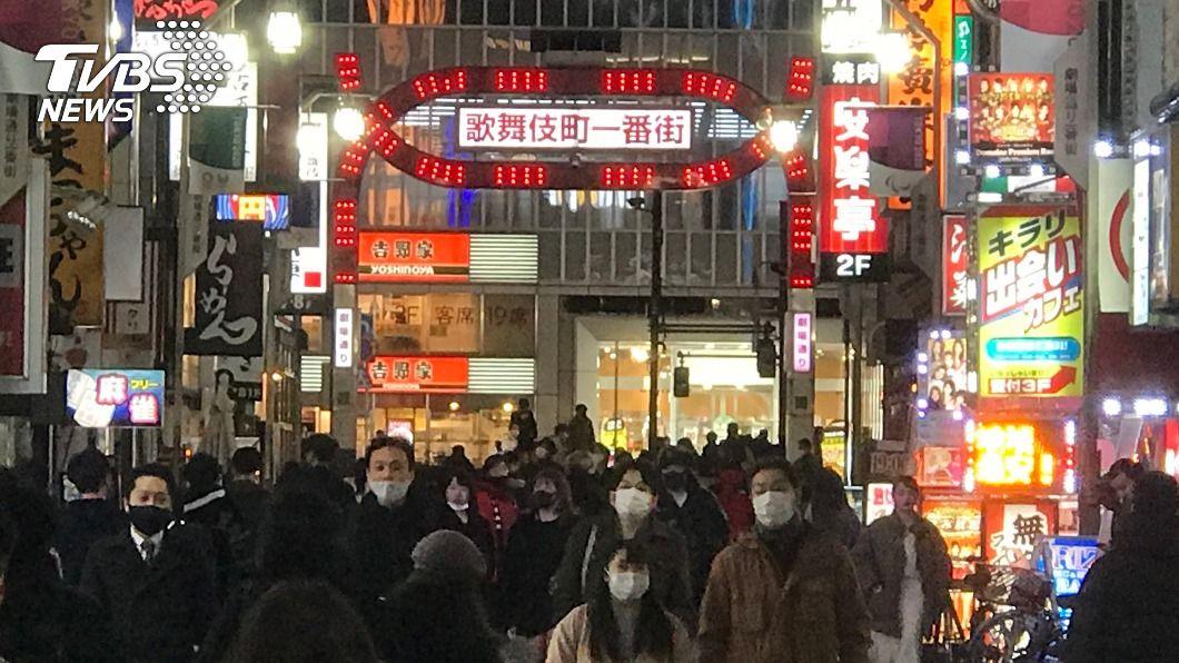 圖為東京新宿歌舞伎町。(圖/中央社) 東京單日新增確診降至3位數 全球疫情最新情報