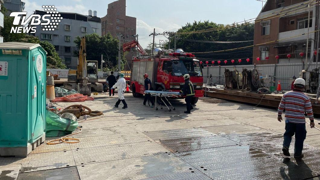 北投昨天上午發生工安意外。(圖/中央社) 北投工安意外男子遭重物砸頭亡 北市府勒令停工