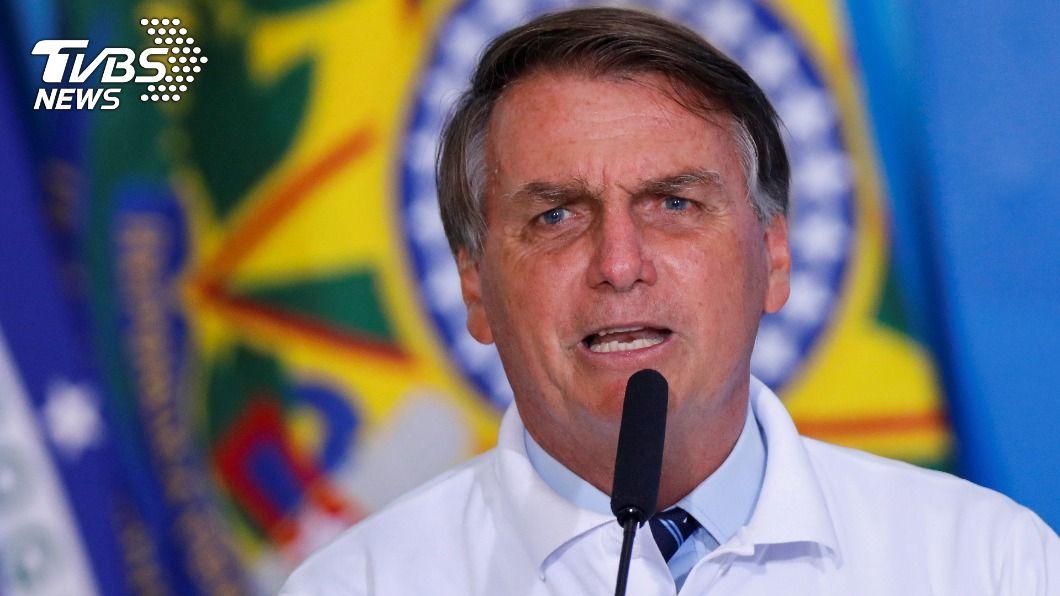 巴西總統波索納洛。(圖/達志影像路透社) 巴西確診數狂飆 波索納洛態度轉彎謝陸出口疫苗原料