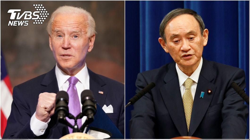 美國總統拜登與日本首相菅義偉將強化雙邊聯盟。(圖/達志影像路透社) 菅義偉、拜登電話會談 同意強化日美聯盟