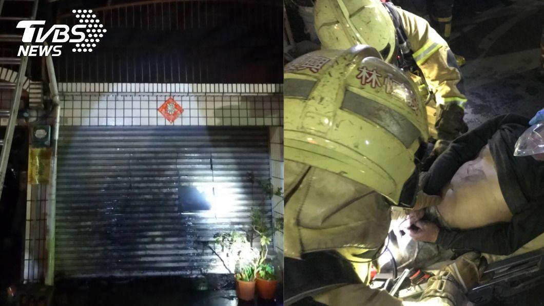 台南一處民宅凌晨傳出火警。(圖/TVBS) 台南民宅凌晨竄惡火!祖孫三代困屋內1重傷3輕傷