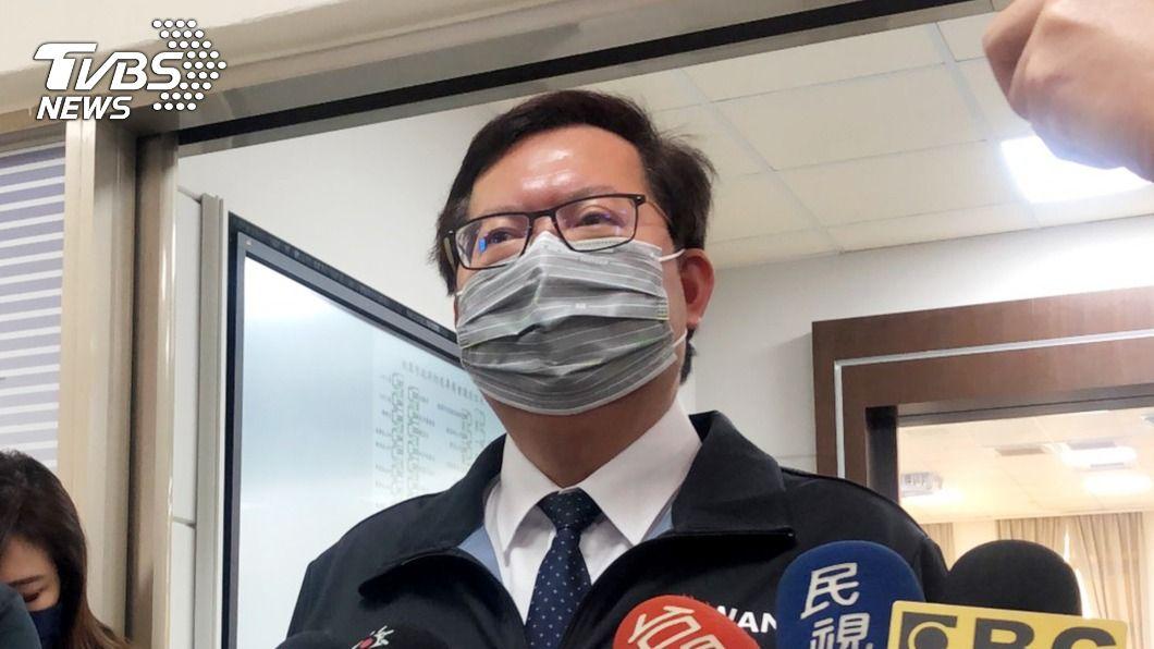 桃園市長鄭文燦。(圖/TVBS) 部桃風暴市場生意受影響 鄭文燦力挺:1、2月減租一半