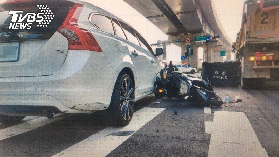 新北今年已發生17件死亡車禍。(圖/中央社) 新北1月死亡車禍較去年同期增 多為汽機車間擦撞