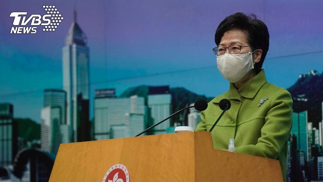 港特首林鄭月娥。(圖/達志影像美聯社) 稱國安法是定海神針 林鄭:2020年是香港回歸轉折點