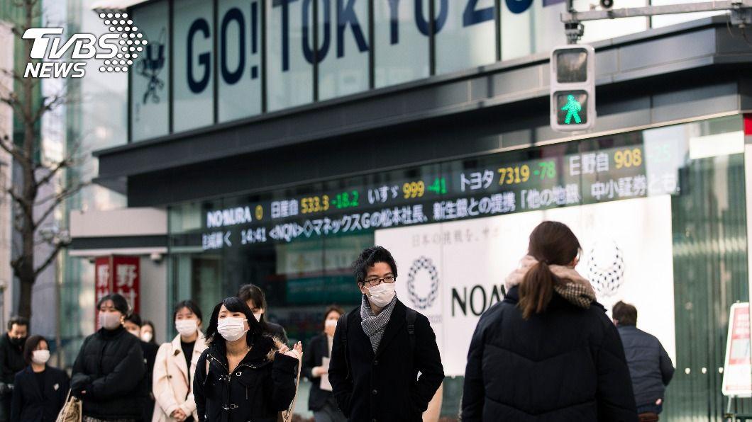 日本東京新增393例新冠肺炎確診病例。(圖/達志影像美聯社) 東京確診武漢肺炎增393例 累計逾10萬例