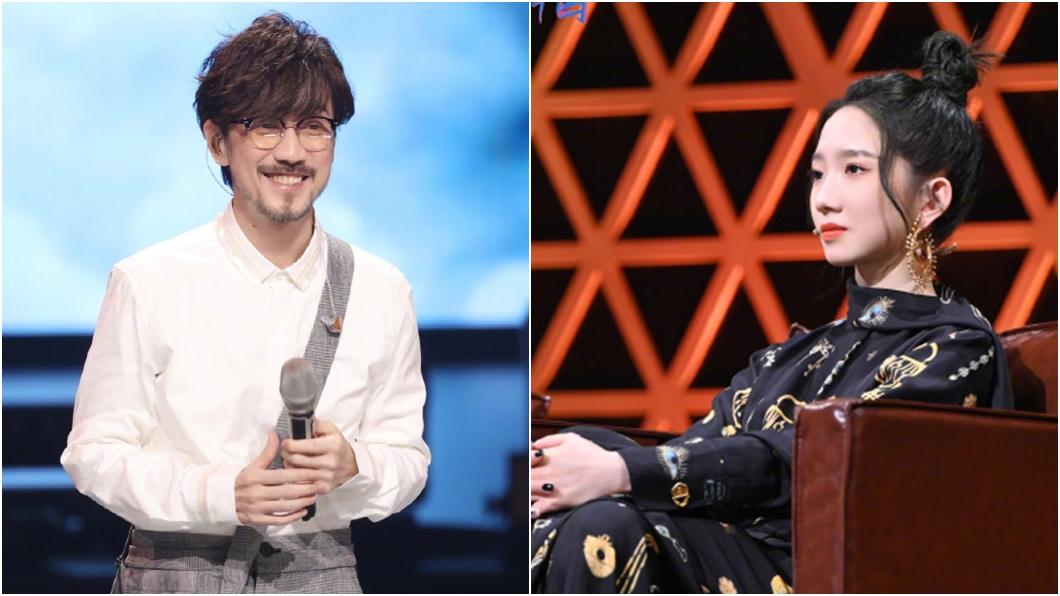 周傳雄(左)登陸綜選秀,孟美岐(右)坐在評審席惹議。(圖/翻攝自天賜的聲音微博) 51歲周傳雄登陸綜「評審才22歲」 網傻眼:什麼水平