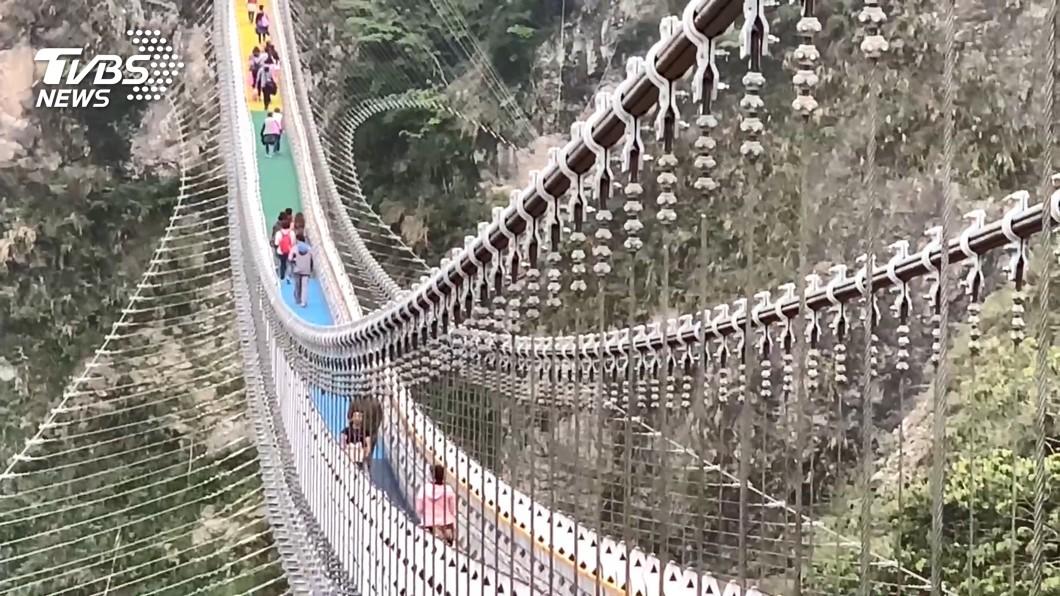 圖為知名景點雙龍瀑布彩虹吊橋。(圖/TVBS資料畫面) 春節祭人流管制措施強化防疫 指揮中心3日公布