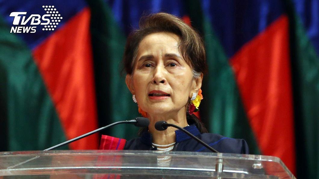 緬甸實質領袖翁山蘇姬。(圖/達志影像美聯社) 翁山蘇姬與軍頭一年多沒講上話 政變早埋伏筆