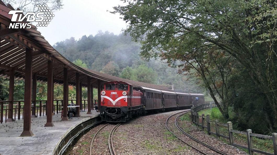 阿里山林鐵。(圖/中央社) 阿里山林鐵支線列車防疫 春節期間車廂人數降載