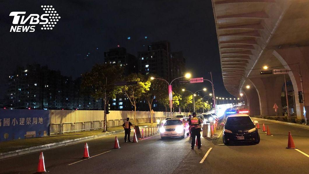 (圖/中央社) 春節連假將至 中市警即起實施區域聯防取締酒駕