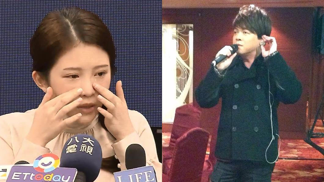 翁立友發布聲明「力挺雞排妹提出告訴」。(圖/TVBS、翁立友臉書) 發聲明後再曝音檔 翁立友親聲「向粉絲道歉」