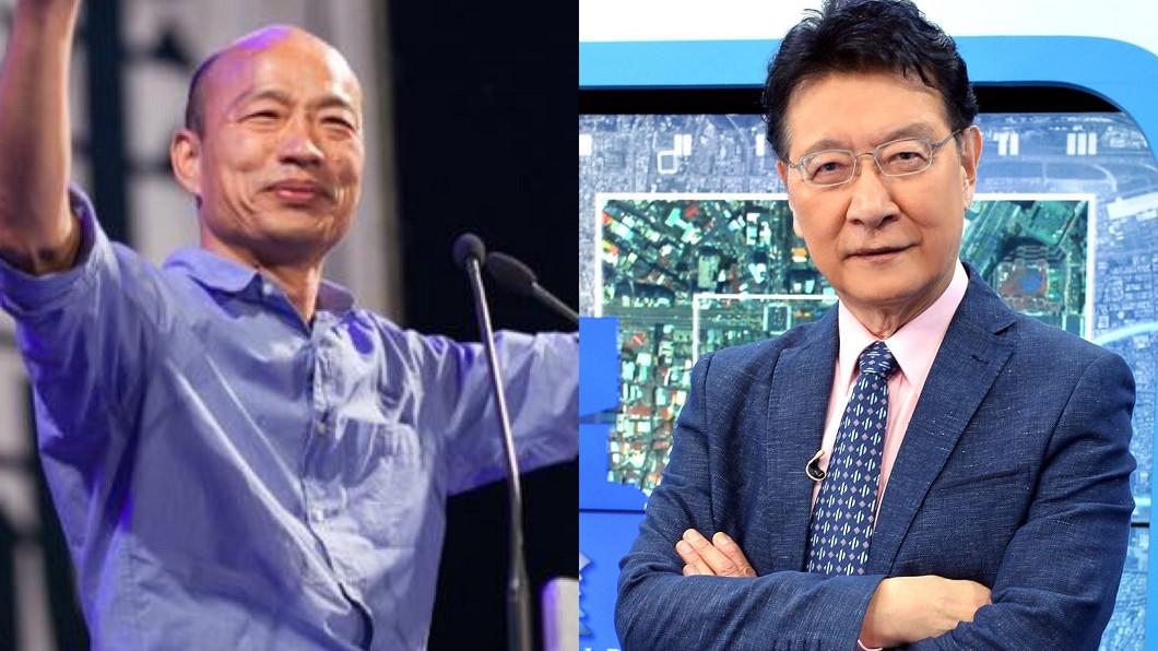 趙少康(圖右)認為韓國瑜該重返高雄,從哪裡跌倒就從哪裡站起來。(圖/TVBS、翻攝韓國瑜臉書) 挺韓國瑜「重返高雄」 趙少康:哪裡跌倒哪裡站起來