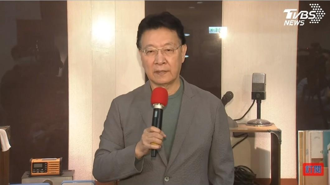 趙少康再次出面還原與江啟臣會面的過程。(圖/TVBS) 被指「郭台銘2.0」逼宮江啟臣 趙少康還原會面過程