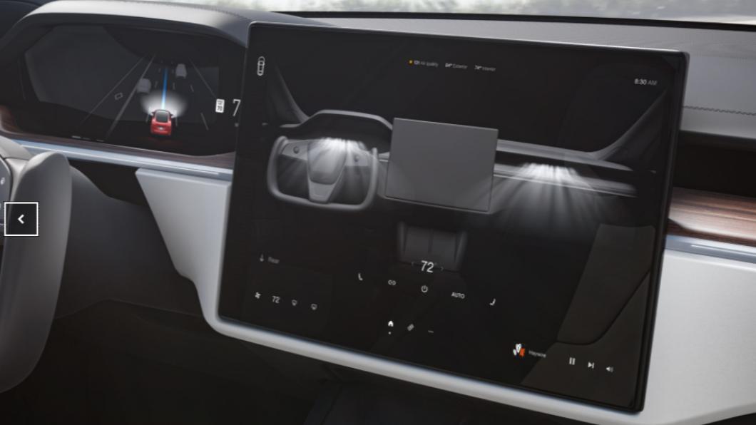 特斯拉觸控面板可能發生故障。(圖/翻攝自特斯拉官網) 觸控面板恐故障 特斯拉召回逾13萬Model S與X
