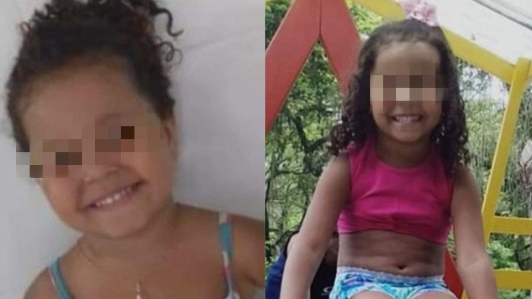 巴西一名女童遭流彈擊中身亡。(圖/翻攝自SoudeNiteroi1、riodepaz推特) 家門口玩耍被槍擊 警「怕沾血」拒救巴西女童慘死