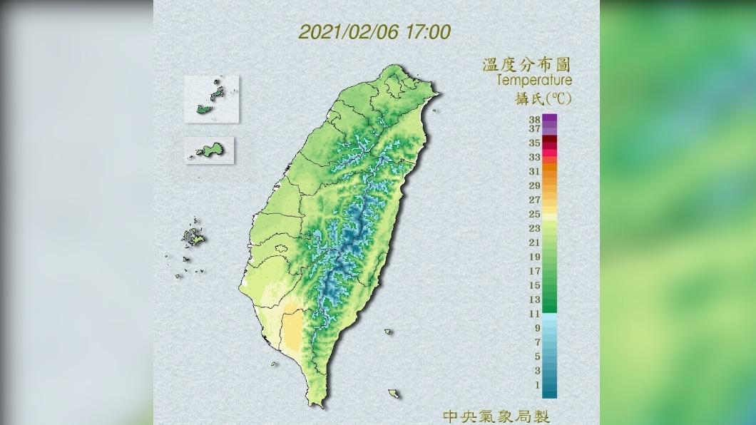 今明兩天各地晴朗穩定。(圖/中央氣象局) 春節連假天氣出爐!小年夜全台轉雨 北部濕冷到初三