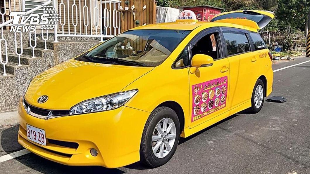 小琉球誕生首輛合法計程車。(圖/中央社) 因應酒駕頻傳 小琉球「首輛」合法計程車誕生