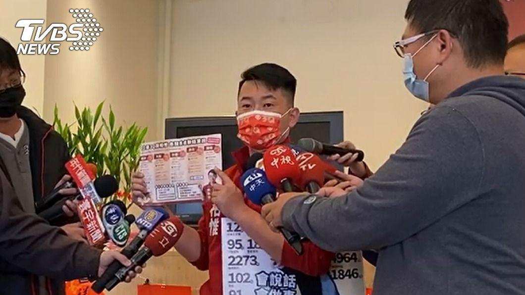 台灣基進立委陳柏惟。(圖/中央社) 刪Q總部送一階段提議書 陳柏惟:是針對性罷免案