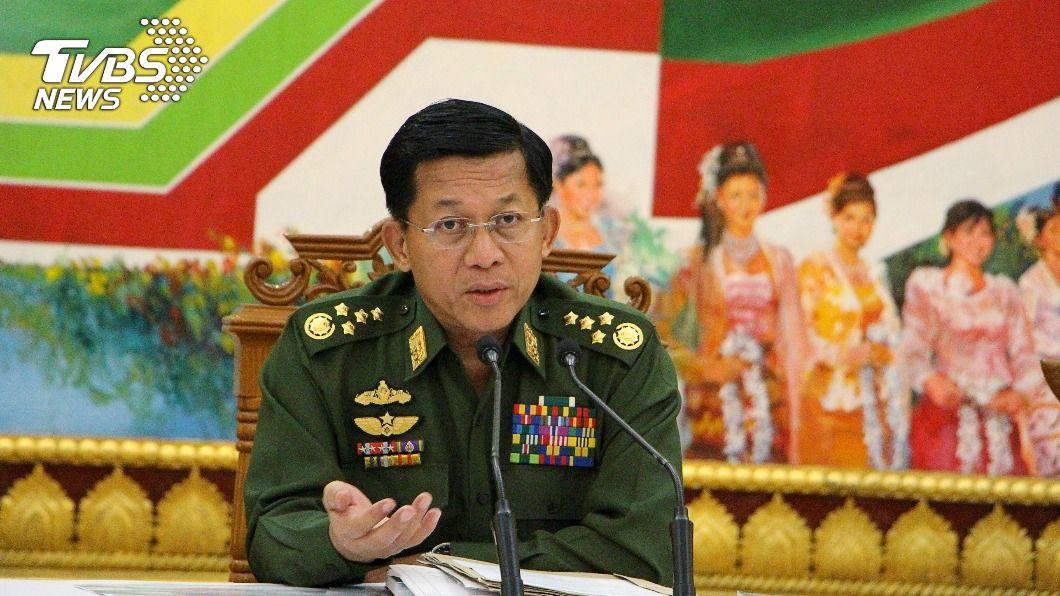 緬甸軍政府領導人敏昂萊。(圖/達志影像路透社) 政變後首發表談話 緬甸軍頭:緊急狀態結束後重辦大選