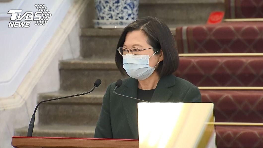 總統蔡英文。(圖/TVBS) 總統:台美關係未受政權更替影響 續深化經貿對話
