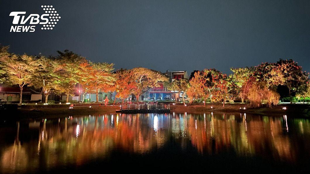 月津港親水公園。(圖/中央社) 燈節停辦仍見鹽水日常美 台南文化局改推影像徵集