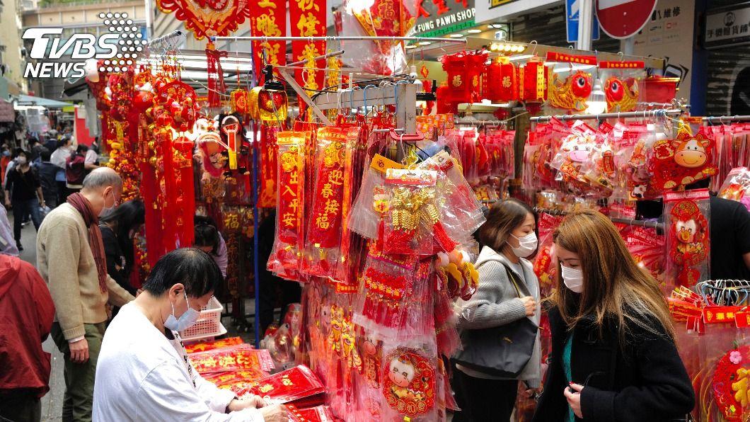 (圖/達志影像美聯社) 新冠肺炎疫情衝擊 農曆年香港幾陷停頓