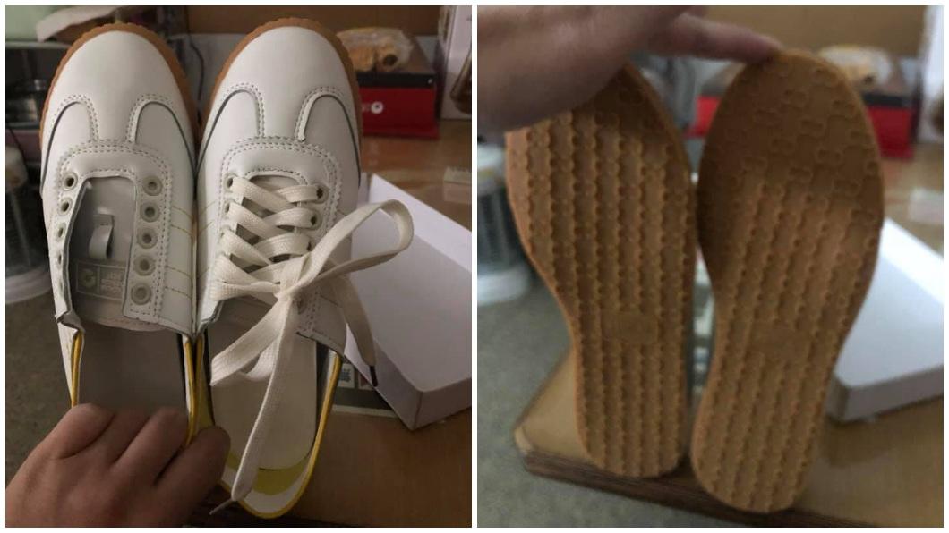 一名女子網路購物一雙鞋子,沒想到開箱一看,裡面竟然都是左腳鞋。(圖/翻攝自爆怨公社) 網購新鞋驚見「一雙左腳」 女急換貨二度開箱更崩潰