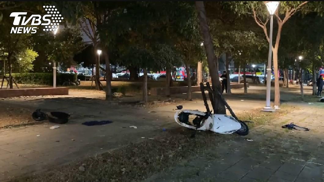 小年夜傳憾事!(圖/TVBS) 小年夜傳憾事!高雄男失控暴衝 女騎士腦漿外露慘死