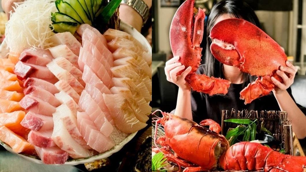 滿滿海鮮讓不少饕客看了食指大動。(圖/翻攝自高雄美食地圖臉書) 海鮮控有福啦! 超狂生魚片臉盆、巨型龍蝦浮誇上桌