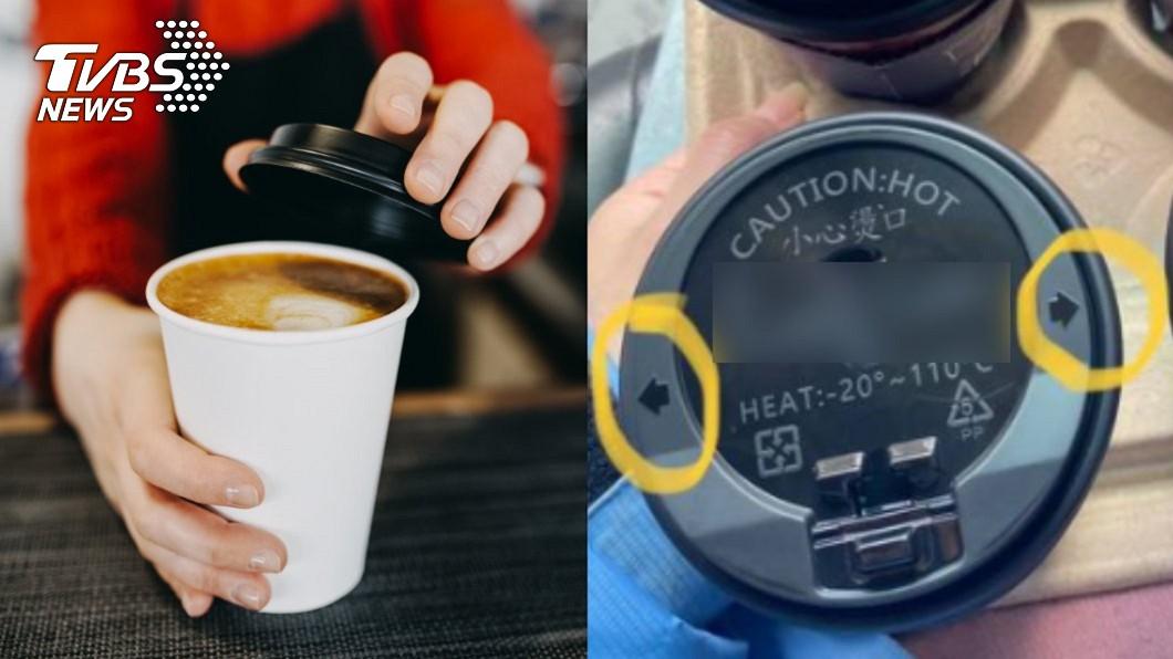 開工日不少上班族會購買咖啡提振精神。(圖/shutterstock達志影像、翻攝自爆系知識家) 超商咖啡杯蓋藏「神祕箭頭」 內行人揭超方便用途