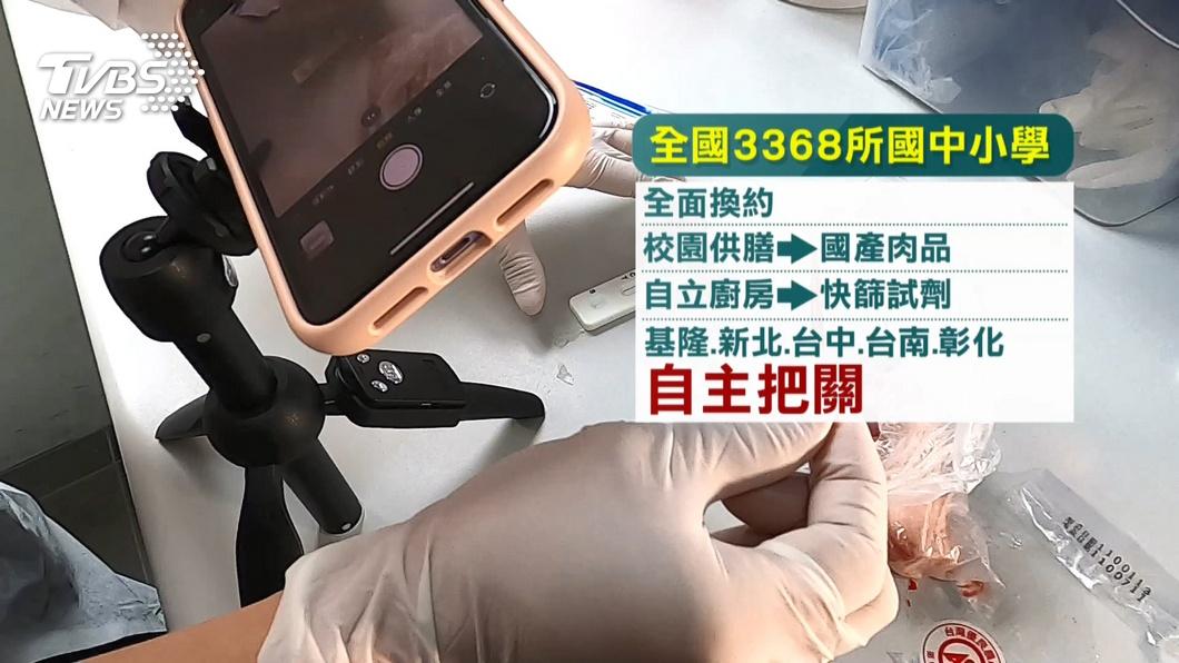 圖/TVBS 萊豬開放進口怎防堵? 學校、餐廳引進萊豬試劑做防護