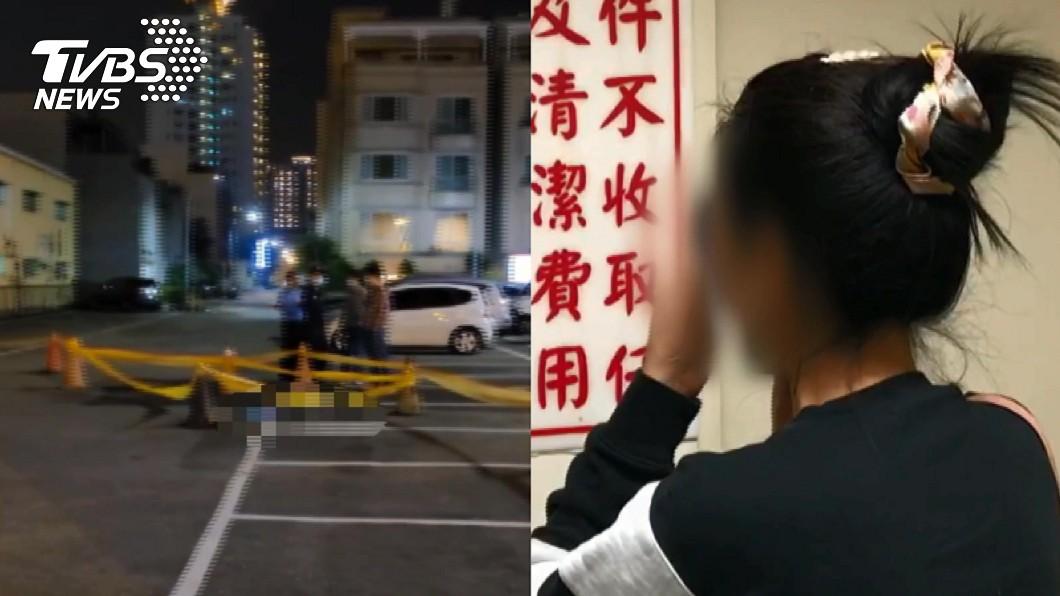 王男的妻子在殯儀館神情落寞。(圖/TVBS) 男被追殺訣別「電話未通」斷氣 妻沒接到崩潰曝原因