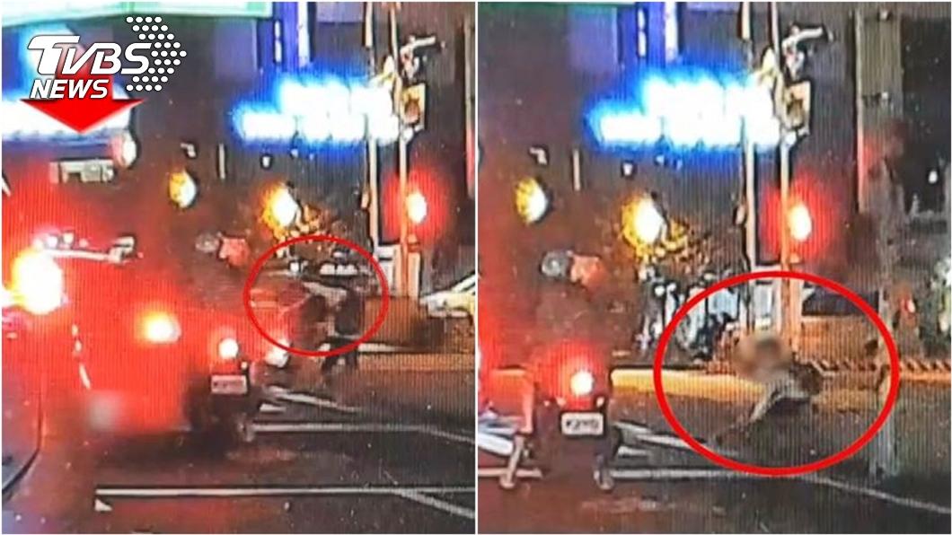 男大生過程中跳車逃跑,嚇得雙腿癱軟跌坐在地。(圖/TVBS資料畫面) 遊台南被攔車逼3貼驚恐逃亡 2男大生「背景曝光」