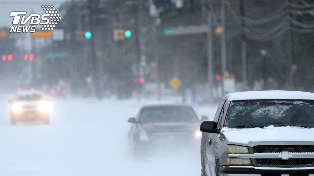 冬季風暴襲美。(圖/達志影像美聯社) 冬季風暴吹垮德州供電 意外掀起再生能源大戰
