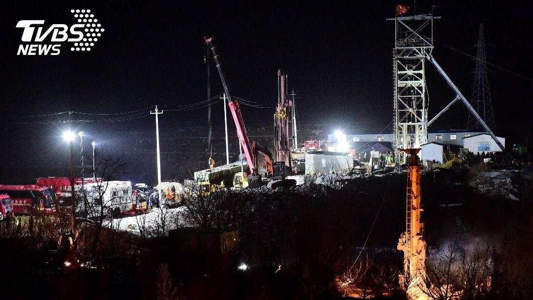 圖為山東煙台在上月10日發生的金礦爆炸事故。(圖/達志影像路透社) 大陸山東一個多月內發生2起礦災 已釀16死