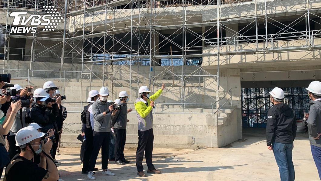 新竹市立棒球場重建工程持續進行中。(圖/中央社) 新竹棒球場2022年前啟用 林智堅透露不只40場賽事