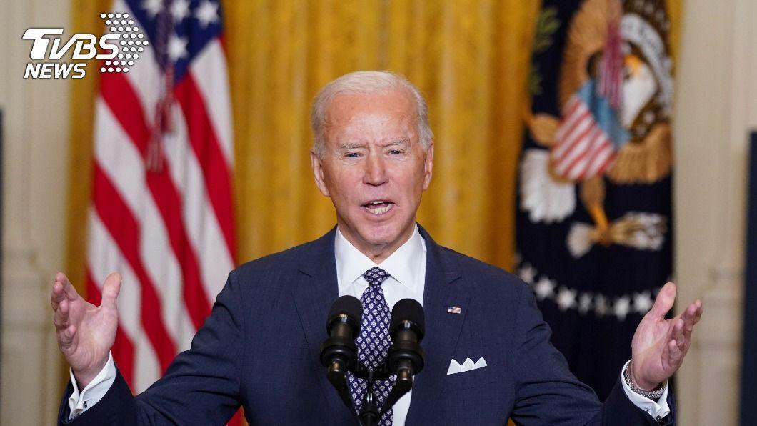 美國總統拜登今天高呼「美國和跨大西洋聯盟回來了」。(圖/達志影像路透社) 面對全球民主遭受攻擊 拜登喊話:美國回來了
