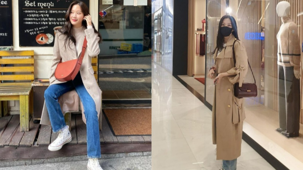 文佳煐西裝外套不離身,硬挺的版型與材質能夠修身。(合成圖/翻攝自「m_kayoung」IG) 衣櫃必備5單品 《女神降臨》文佳煐「初戀系」穿搭