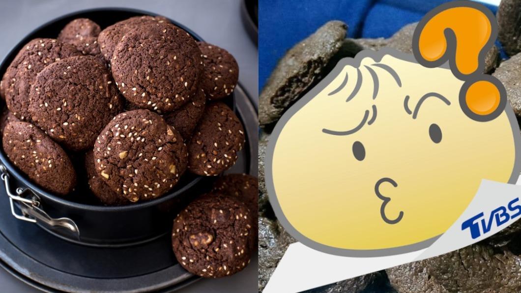 一名網友看到巧克力餅乾驚呼該吃嗎?(圖/shutterstock 達志影像、爆廢公社二館) 女烤巧克力餅乾成品嚇壞男友 網笑:吃不吃都急診