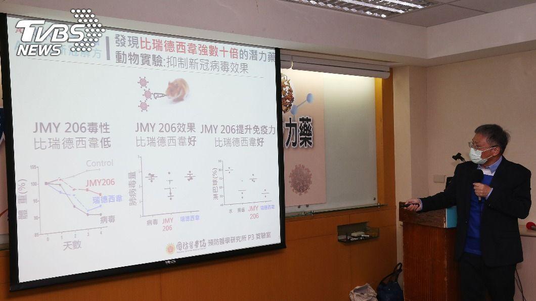 陽明交大團隊找到治療新冠肺炎的新藥物。(圖/中央社) 陽明交大找到潛力藥 治新冠肺炎比瑞德西韋強數十倍
