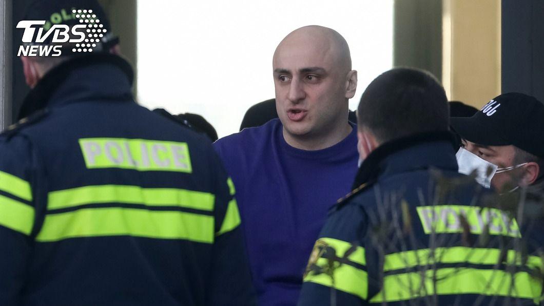 喬治亞在野黨主席遭警逮捕。(圖/達志影像路透社) 喬治亞政治危機深化 警方襲在野黨總部逮黨主席